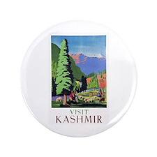 """Kashmir Travel Poster 1 3.5"""" Button (100 pack)"""