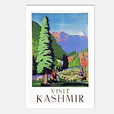 Kashmir Travel Poster 1 Postcards (Package of 8)