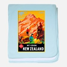 New Zealand Travel Poster 9 baby blanket