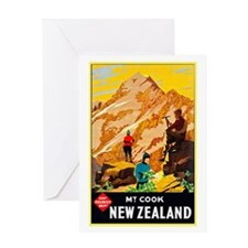 New Zealand Travel Poster 9 Greeting Card