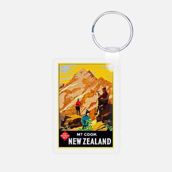 New Zealand Travel Poster 9 Keychains