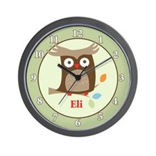 Tree Tops Owl - Eli Wall Clock