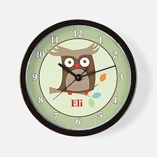 Tree Tops Owl - Eli Wall Clock