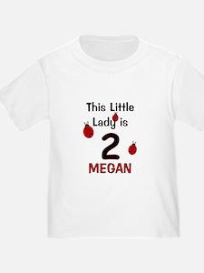 MEGAN This Little Lady is 2 (Ladybug) T