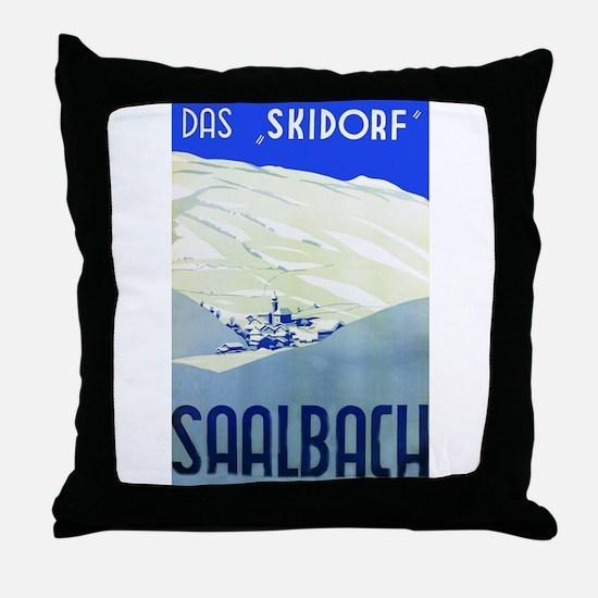 Austria Travel Poster 1 Throw Pillow