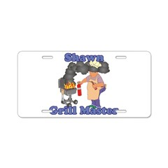 Grill Master Shawn Aluminum License Plate