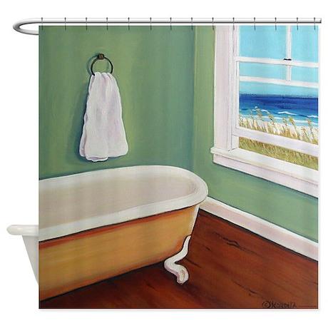 Window to the Sea Beach Shower Curtain