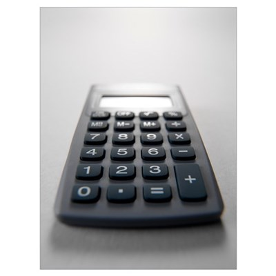 Electronic calculator Poster