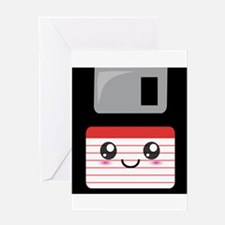 Cute Floppy Disk (Red) Greeting Card