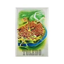 Spain Travel Poster 1 Rectangle Magnet