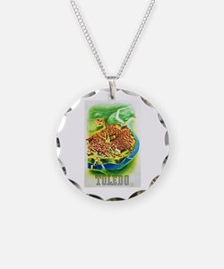 Spain Travel Poster 1 Necklace