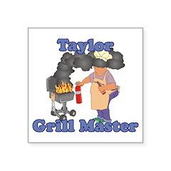Grill Master Taylor Square Sticker 3