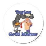 Grill Master Taylor Round Car Magnet