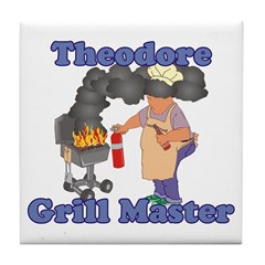 Grill Master Theodore Tile Coaster