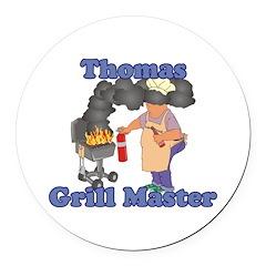 Grill Master Thomas Round Car Magnet