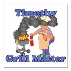 Grill Master Timothy Square Car Magnet 3