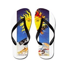 Switzerland Travel Poster 6 Flip Flops