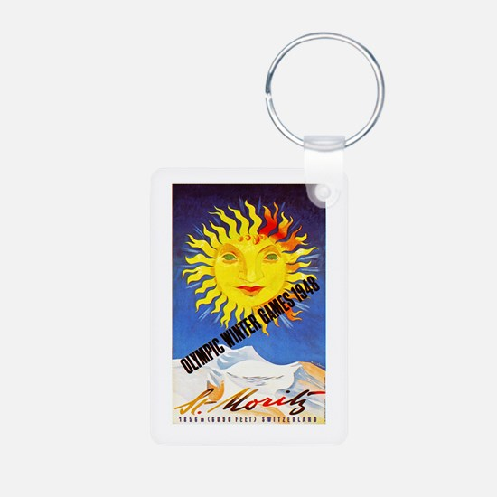 Switzerland Travel Poster 6 Keychains