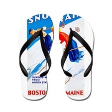 New England Travel Poster 3 Flip Flops