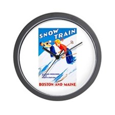 New England Travel Poster 3 Wall Clock