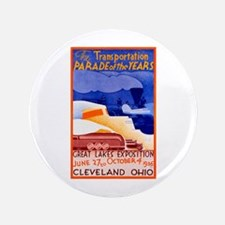 "Cleveland Travel Poster 1 3.5"" Button"