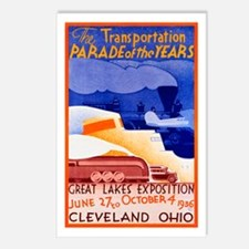 Cleveland Travel Poster 1 Postcards (Package of 8)