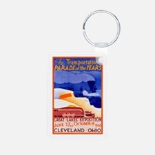 Cleveland Travel Poster 1 Keychains