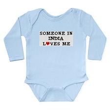 Unique India design Long Sleeve Infant Bodysuit