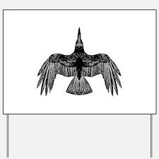 crow Yard Sign