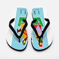 Israel Travel Poster 2 Flip Flops