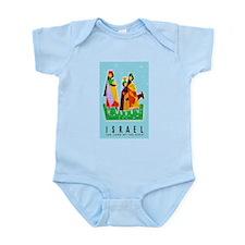 Israel Travel Poster 2 Infant Bodysuit