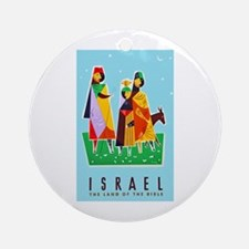 Israel Travel Poster 2 Ornament (Round)