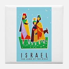 Israel Travel Poster 2 Tile Coaster