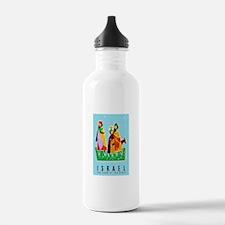 Israel Travel Poster 2 Water Bottle