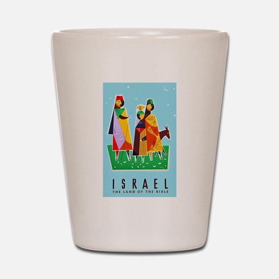 Israel Travel Poster 2 Shot Glass