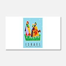 Israel Travel Poster 2 Car Magnet 20 x 12