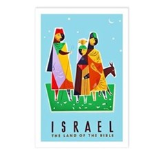 Israel Travel Poster 2 Postcards (Package of 8)