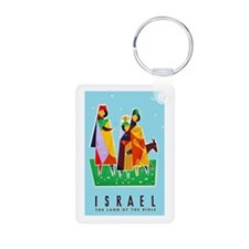 Israel Travel Poster 2 Keychains