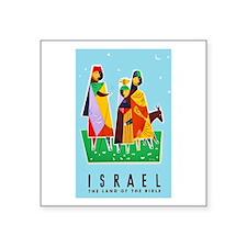 "Israel Travel Poster 2 Square Sticker 3"" x 3"""