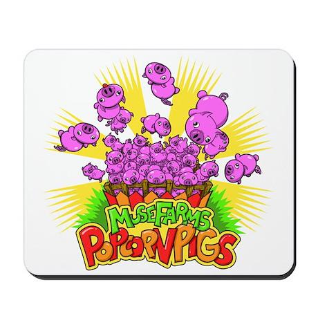 Popcorn Pigs Mousepad