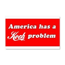 White on Red Car Magnet 20 x 12