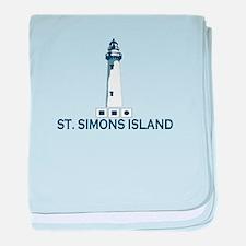 St. Simons Island - Lighthouse Design. baby blanke