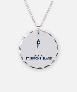 St. Simons Island - Lighthouse Design. Necklace