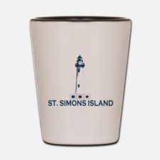 St. Simons Island - Lighthouse Design. Shot Glass