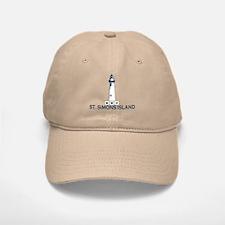 St. Simons Island - Lighthouse Design. Baseball Baseball Cap