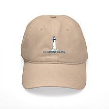St. Simons Island - Lighthouse Design. Baseball Cap