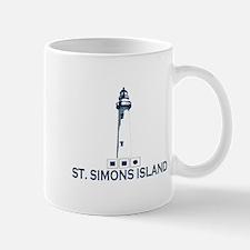 St. Simons Island - Lighthouse Design. Mug