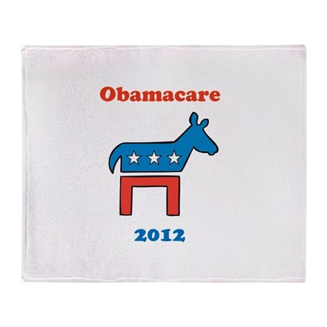 Obamacare 2012 Democrat Throw Blanket