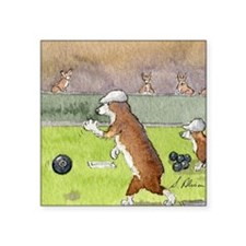 """Bowls on the green Square Sticker 3"""" x 3"""""""
