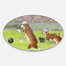 Bowls on the green Sticker (Oval)